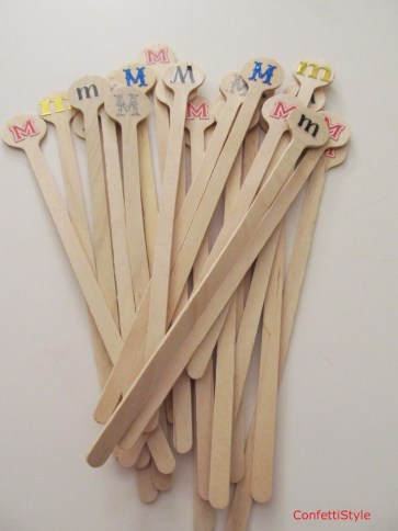 Monogram Stir Sticks by ConfettiStyle
