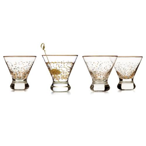 Shaken Martini Glasses from UnCommon Goods