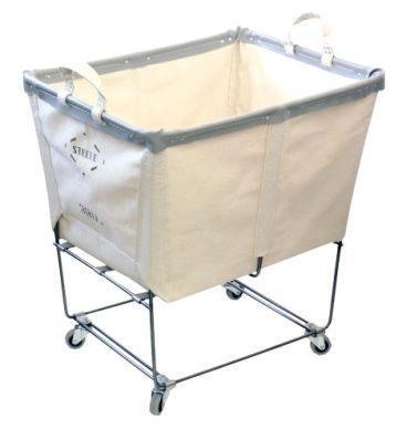 Lg Steel Canvas Laundry Bin
