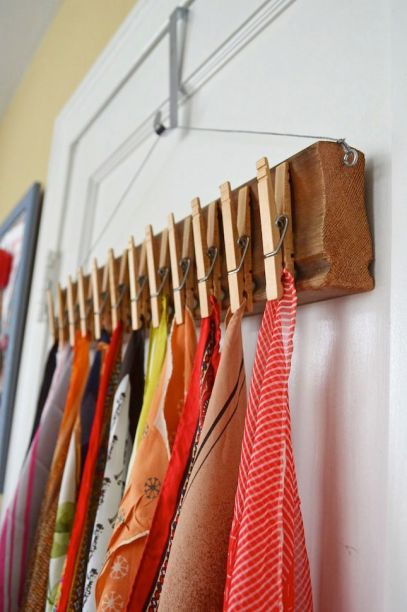 DIY Scarf Rack