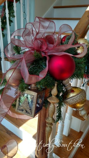 Christmas Banister--PositivelySouthern