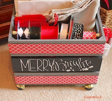 Merry & Bright Gift Wrap Crate3
