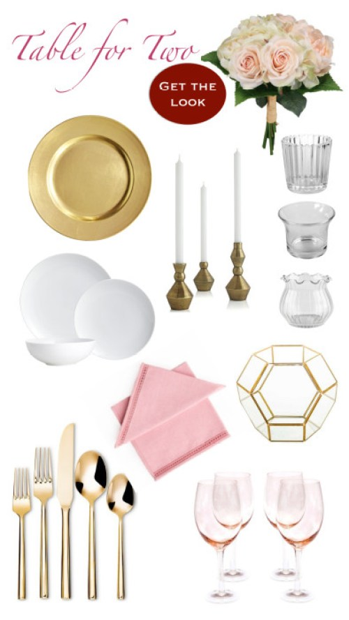 Valentine's Day Table Setting--Shop the Sources and Get The Look.