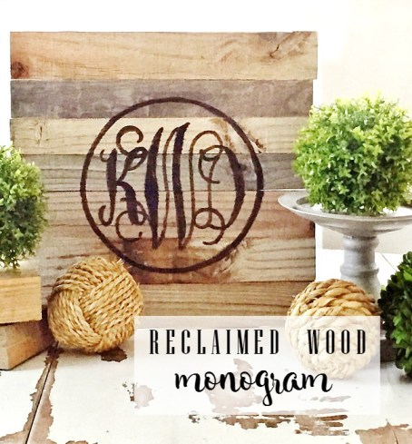 Reclaimed Wood Monogram