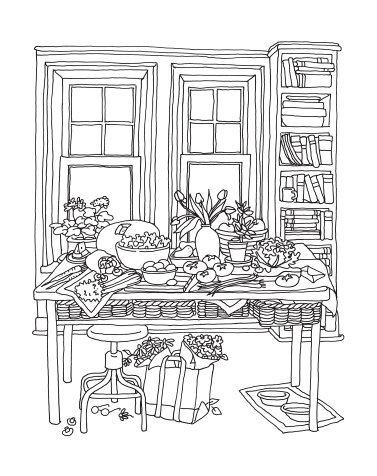 Color Me Cluttered--Coloring Books