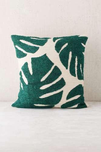 Crewel Palms Pillow