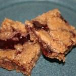 Gluten Free Raspberry Chocolate Jam Bars