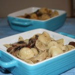 Orecchiette with Caramelized Onions and Mushroom Sauce