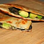 VeganMoFo: Black Bean and Avocado Quesadillas