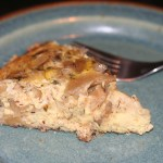 Caramelized Onion and Mushroom Quiche with an Almond Crustlut