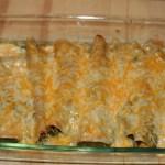 Spinach and Tofu Enchiladas Verde