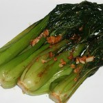 Red Miso Braised Baby Bok Choy