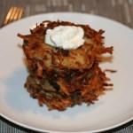 Wild Mushroom & Roasted Garlic Latkes