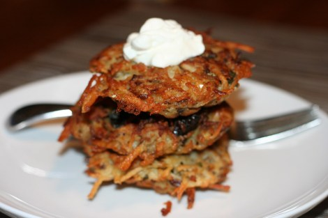 mushroom-and-potato-latkes