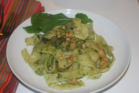 pasta-with-arugula-pesto