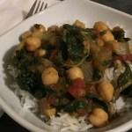 Swiss Chard & Chickpea Curry