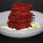Spiced Beet Latkes with Za'tar Labneh Dip