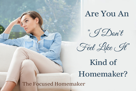 """Are you and """"I don't feel like it"""" kind of homemaker?"""