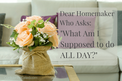 "Dear Homemaker Who Asks: ""What Am I Supposed to do All Day?"""