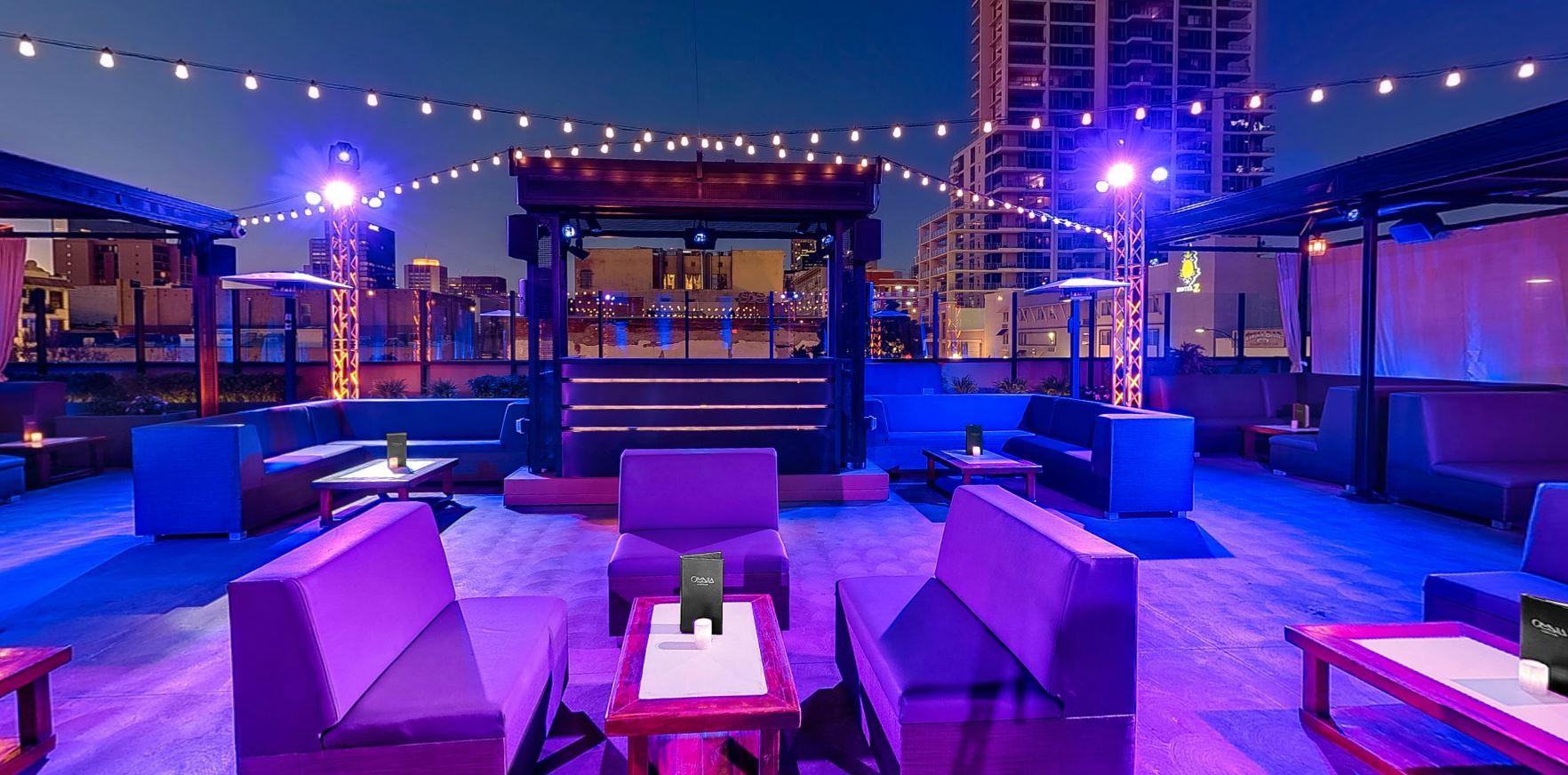 Rooftop meeting venues in san diego for Terrace bar menu