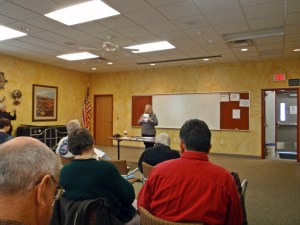 D'Elen McClain at APW January meeting