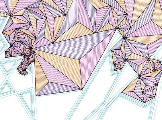 Triangle art Etsy