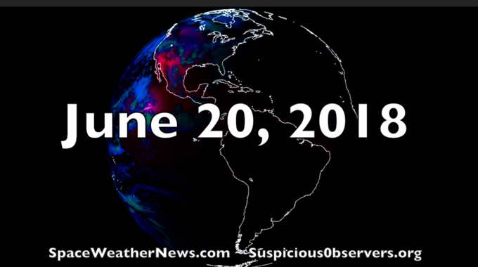 Titanic Plasma Filaments, Large Sunspot Growing, Storms, Quakes | S0 News Jun.20.2018