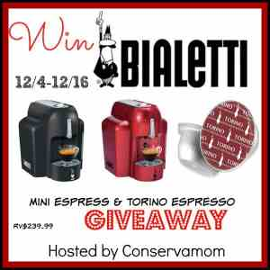 Bialetti Mini Express Giveaway Ends 12/16