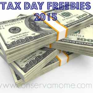 Tax Day Freebies 2015