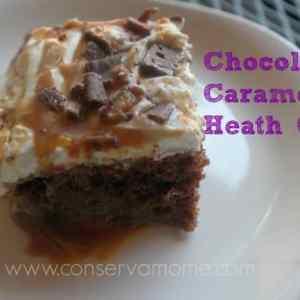 Chocolate Caramel Heath Cake
