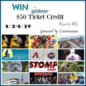 $50 Goldstar Event Ticket Credit ends 8/19