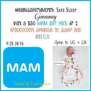 #BabySafetyMonth Safe Sleep Giveaway APRV$120 ends 10/16