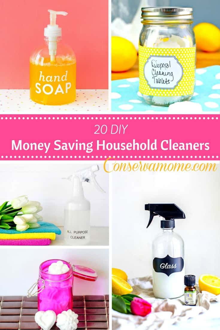 money saving household cleaners