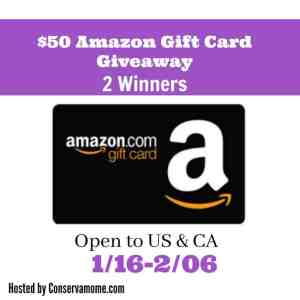 $50 Amazon Gift Card Giveaway 2- Winners