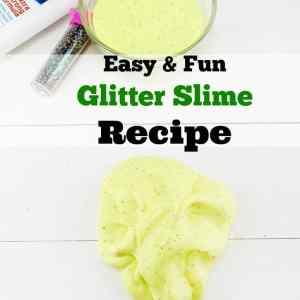 Easy & Fun Glitter Slime Recipe