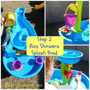 Step 2 Rain Shower Splash Pond Review + Giveaway
