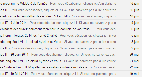 lemondeinformatique.fr, fail at preview by asking readers to unsubscribe!