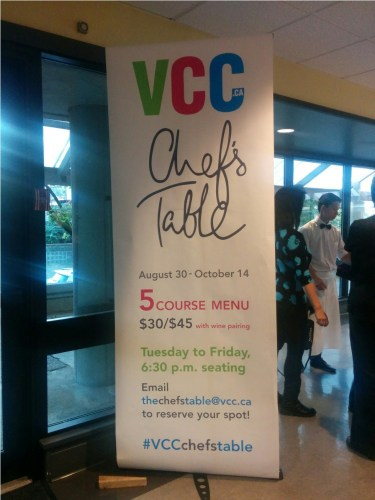 VCC Chef's Table