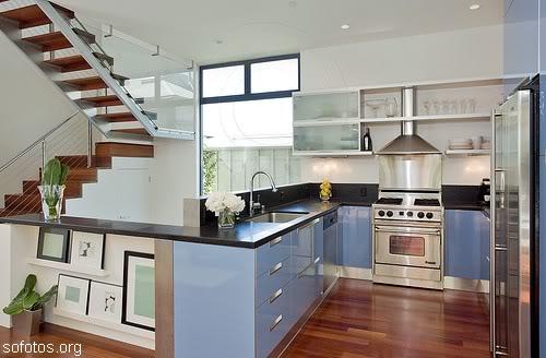 07 cozinha pequena sob medida azul