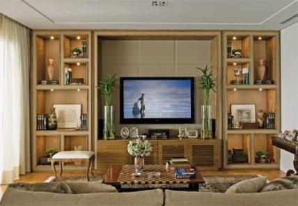 05 estante de madeira nichos lateral tv