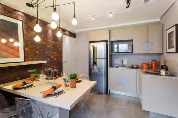 10 cozinha revestimento de tijolo a vista