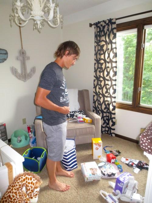 Jamie Molitor in Baby M's nursery