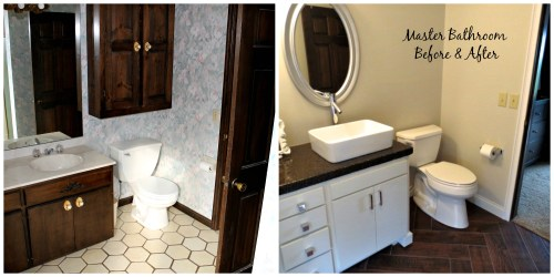 Before and After of our concrete countertops made by Jamie Molitor, MN Home Remodeler