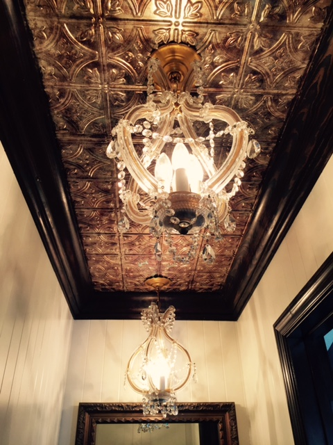 Vintage Chandeliers with ceiling Panel