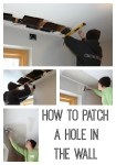 How to patch a hole in the wall the easy way
