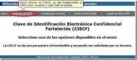 obtener clave ciecf thumb Clave CIECF   Como Obtenerla o Verificarla en la Pagina del SAT