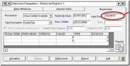 descuento infonavit sua 3.3.6 thumb Calculo de Amortizaciones del Infonavit de Credito en Pesos – Actualizacion SUA 3.3.6