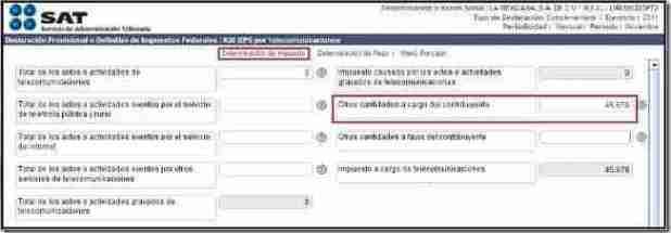 DETERM IMPUESTO thumb Presentar Pagos Provisionales del Esquema Anterior   Servicio de Declaraciones y Pagos