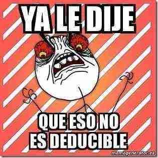 deducible humor contable thumb Humor Grafico exclusivo para Contadores   Viernes de Desestres