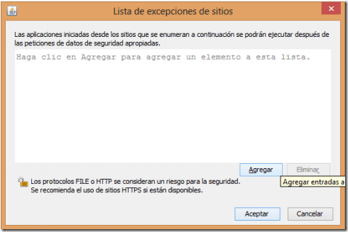 image thumb5 Solucion a los Problemas de JAVA con la Pagina del SAT – Ingresar a SOLCEDI, SICOFI, Pagos Provisionales, Etc..